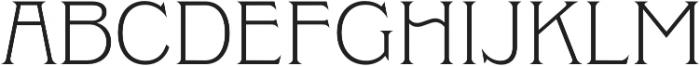Clockmaker Light otf (300) Font UPPERCASE