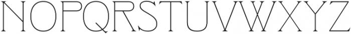 Clockmaker Thin otf (100) Font UPPERCASE