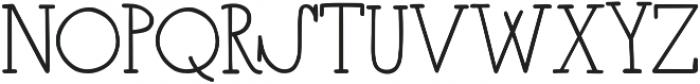 CloverFoxLigatures ttf (400) Font UPPERCASE