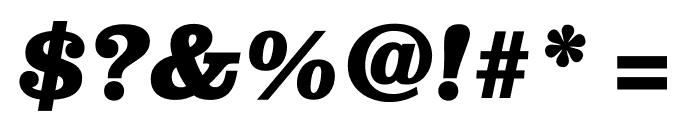 Clarendon Graphic Black Sltd+Ita Font OTHER CHARS