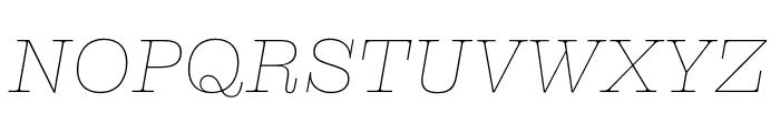 Clarendon Graphic Hairline Sltd+Ita Font UPPERCASE