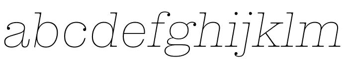Clarendon Graphic Hairline Sltd+Ita Font LOWERCASE