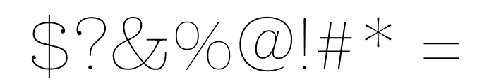 Clarendon Graphic Hairline Font OTHER CHARS