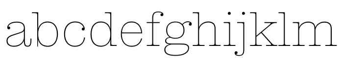 Clarendon Graphic Hairline Font LOWERCASE