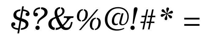 Clarendon Graphic ST Light Sltd+Ita Font OTHER CHARS