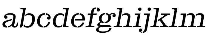 Clarendon Graphic ST Light Sltd+Ita Font LOWERCASE