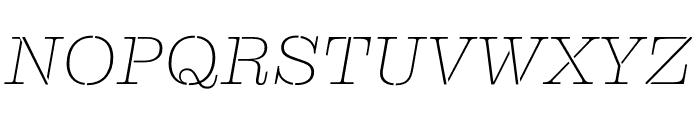 Clarendon Graphic ST Ultrathin Sltd+Ita Font UPPERCASE