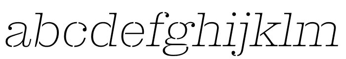 Clarendon Graphic ST Ultrathin Sltd+Ita Font LOWERCASE