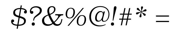 Clarendon Graphic Thin Sltd+Ita Font OTHER CHARS