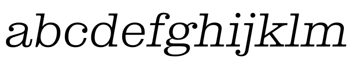 Clarendon Graphic Thin Sltd+Ita Font LOWERCASE