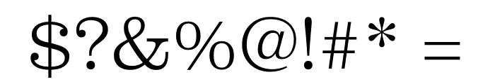 Clarendon Graphic Thin Font OTHER CHARS