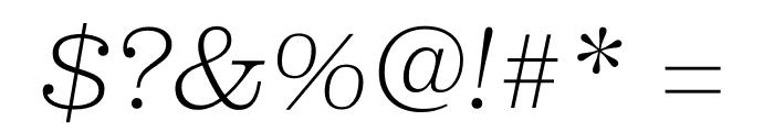 Clarendon Graphic Ultralight Sltd+Ita Font OTHER CHARS