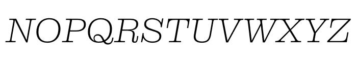 Clarendon Graphic Ultralight Sltd+Ita Font UPPERCASE