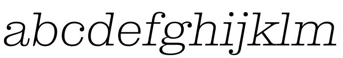 Clarendon Graphic Ultralight Sltd+Ita Font LOWERCASE