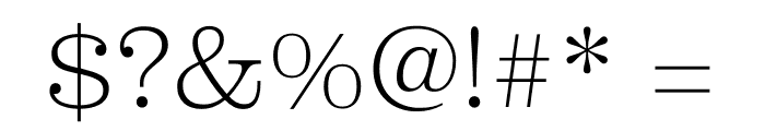 Clarendon Graphic Ultralight Font OTHER CHARS