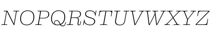Clarendon Graphic Ultrathin Sltd+Ita Font UPPERCASE