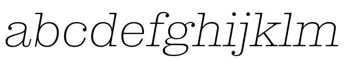 Clarendon Graphic Ultrathin Sltd+Ita Font LOWERCASE