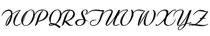 Clarinda-BoldItalic Font UPPERCASE