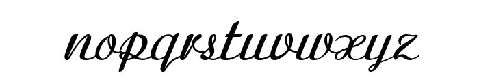 Clarinda-BoldItalic Font LOWERCASE