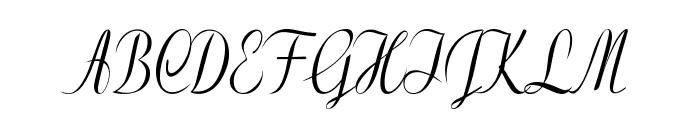 Clarinda-CondensedItalic Font UPPERCASE