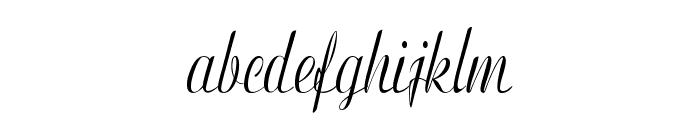 Clarinda-CondensedItalic Font LOWERCASE