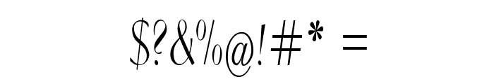 Clarinda-CondensedRegular Font OTHER CHARS