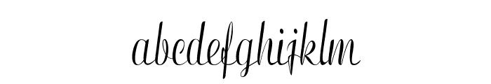 Clarinda-CondensedRegular Font LOWERCASE