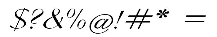 Clarinda-ExpandedItalic Font OTHER CHARS