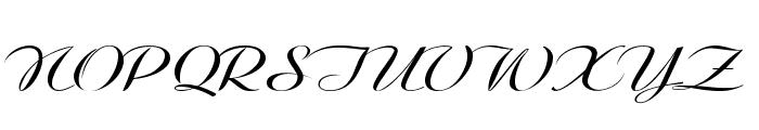 Clarinda-ExpandedItalic Font UPPERCASE
