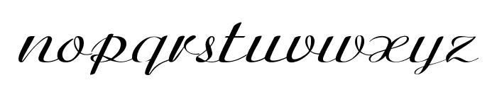Clarinda-ExpandedItalic Font LOWERCASE
