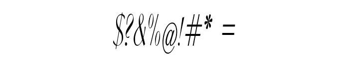 Clarinda-ExtracondensedItalic Font OTHER CHARS
