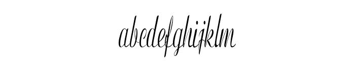 Clarinda-ExtracondensedItalic Font LOWERCASE