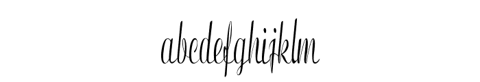 Clarinda-ExtracondensedRegular Font LOWERCASE