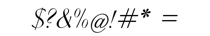 Clarinda-Italic Font OTHER CHARS