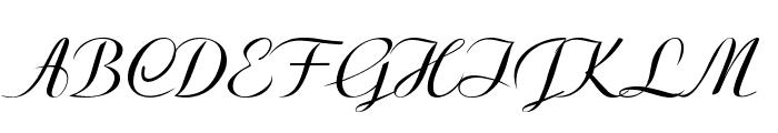 Clarinda-Italic Font UPPERCASE