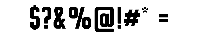 Clarke Black Font OTHER CHARS