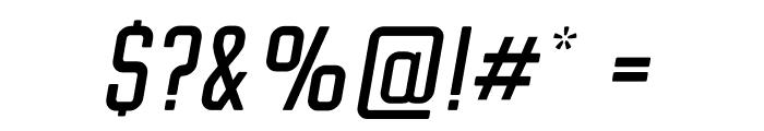 Clarke Regular Italic Font OTHER CHARS
