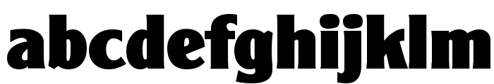 ClearGothicSerial-Heavy-Regular Font LOWERCASE