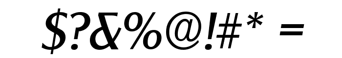 ClearGothicSerial-Italic Font OTHER CHARS