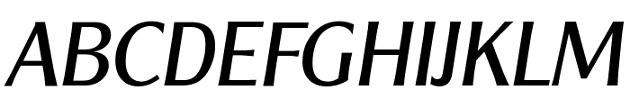 ClearGothicSerial-Italic Font UPPERCASE