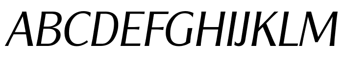 ClearGothicSerial-Light-Italic Font UPPERCASE