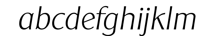 ClearGothicSerial-Xlight-Italic Font LOWERCASE
