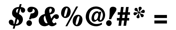 ClearfaceStd-BlackItalic Font OTHER CHARS