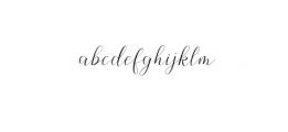 Claudette OTF Font LOWERCASE