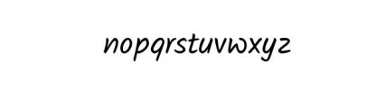 Closer.otf Font LOWERCASE