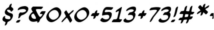 Cloudsplitter BB Lower Case Italic Font OTHER CHARS