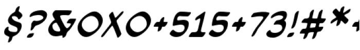 Cloudsplitter BB Upper Case Italic Font OTHER CHARS