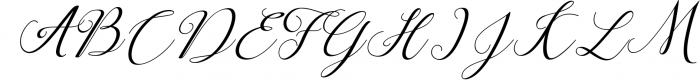 Claudia Script Font UPPERCASE