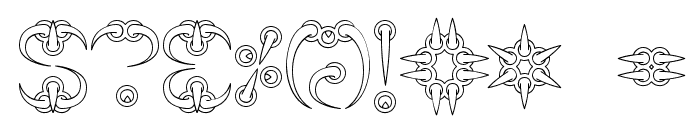CLAW 1 -BRK- Font OTHER CHARS