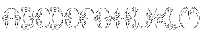 CLAW 1 -BRK- Font UPPERCASE